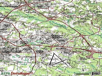 Highland Springs topographic map