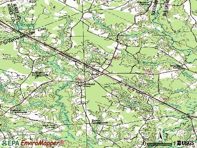 Ivor topographic map