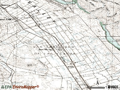 San Martin topographic map