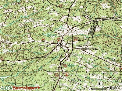 Keysville topographic map