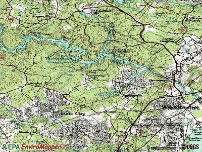 Lake Ridge topographic map