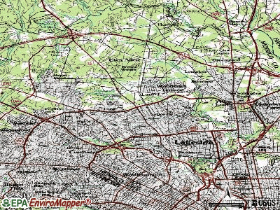 Laurel topographic map