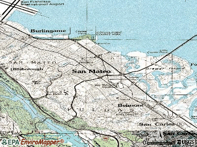 San Mateo topographic map