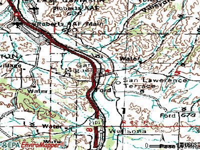 San Miguel topographic map