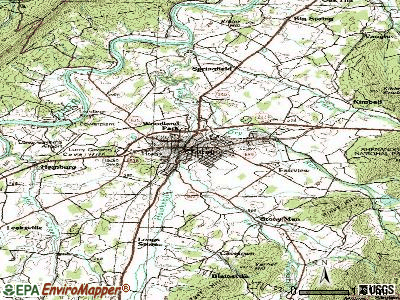 Luray topographic map