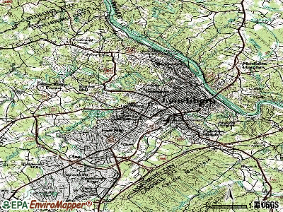 Lynchburg topographic map