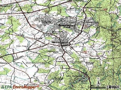 Manassas topographic map