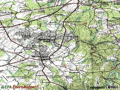 Manassas Park topographic map