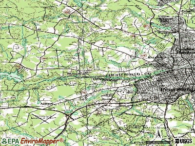 Matoaca topographic map