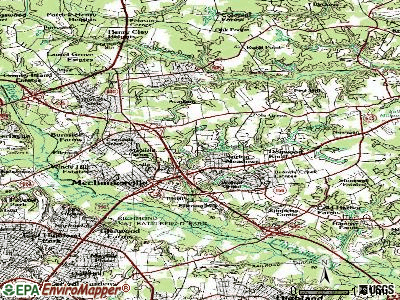 Mechanicsville topographic map
