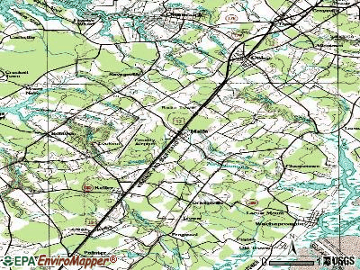 Melfa topographic map