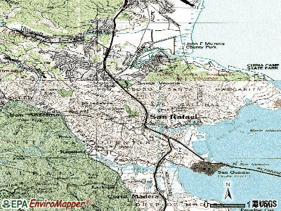 San Rafael topographic map