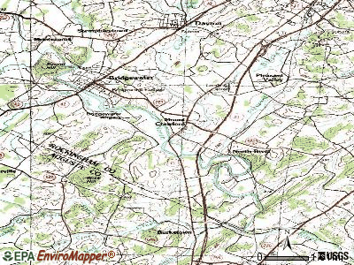 Mount Crawford topographic map