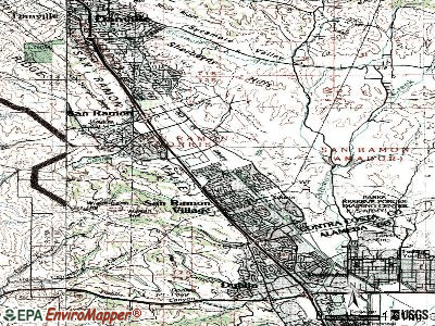 San Ramon topographic map