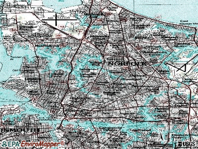 Norfolk topographic map