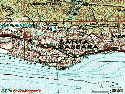 Santa Barbara topographic map