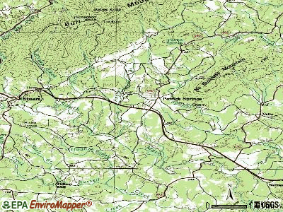 Patrick Springs topographic map