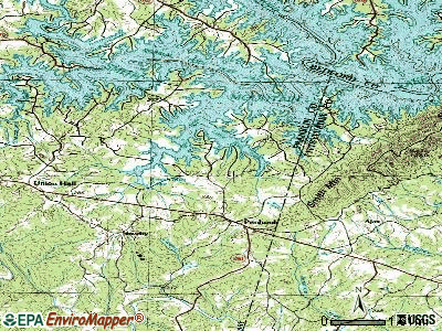 Penhook topographic map