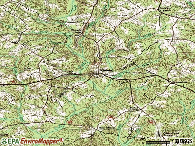 Phenix topographic map