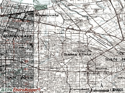 Santa Clara topographic map