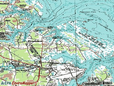 Poquoson topographic map