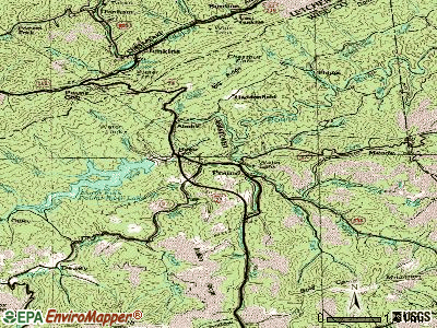 Pound topographic map