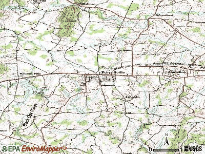 Purcellville topographic map