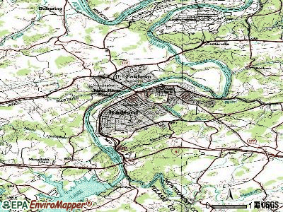Radford topographic map