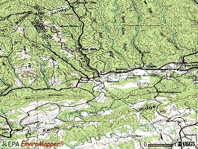 Raven topographic map