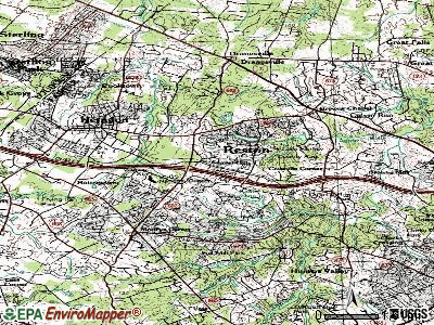 Reston topographic map