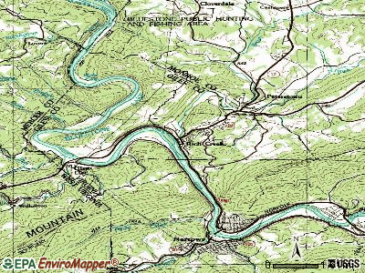 Rich Creek topographic map