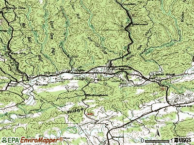 Richlands topographic map