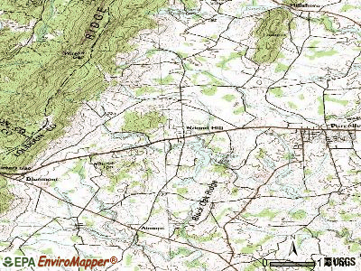 Round Hill topographic map