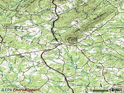 Rustburg topographic map
