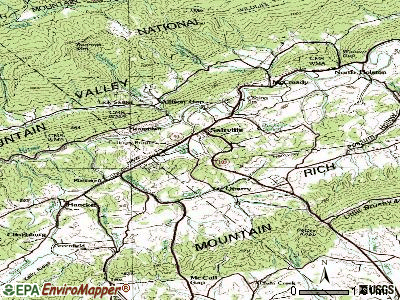 Saltville topographic map