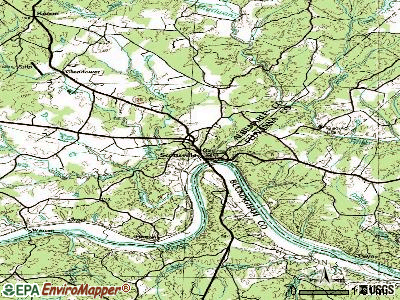 Scottsville topographic map