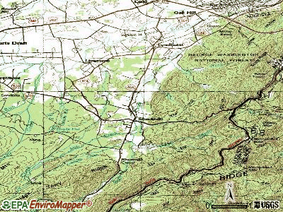 Sherando topographic map