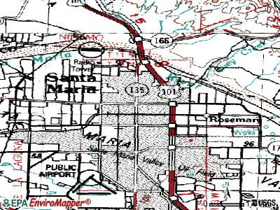 Santa Maria topographic map