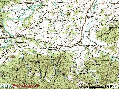 Stanley topographic map