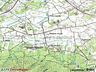 Stuarts Draft topographic map