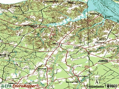 Surry topographic map