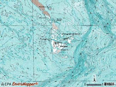 Tangier topographic map