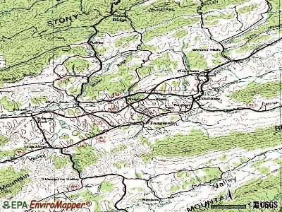 Tazewell topographic map