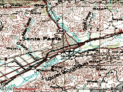 Santa Paula topographic map