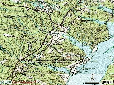 Triangle topographic map