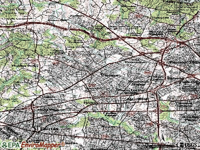 Vienna topographic map