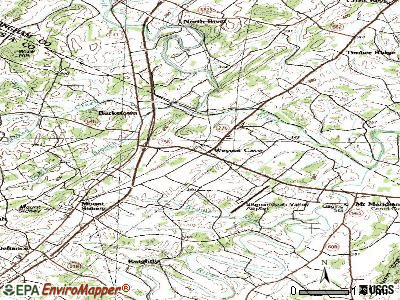 Weyers Cave topographic map