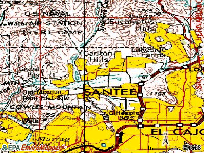 Santee topographic map