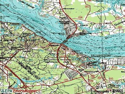 Yorktown topographic map