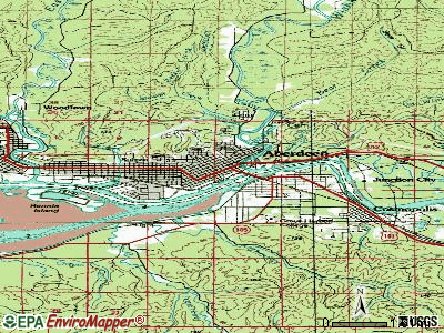Aberdeen topographic map
